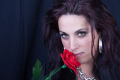 Rose woman Royalty Free Stock Image