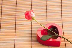 Rose on wood background. Stock Images