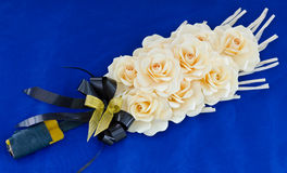Rose wood flowers placed at cremation Royalty Free Stock Photos