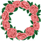 Rose wreath Stock Photography