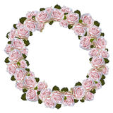 Rose wreath Stock Images