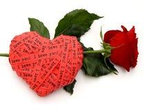 rose wstążkę serca Zdjęcie Royalty Free