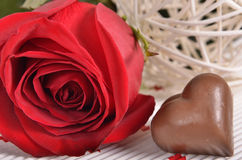 Rose y caramelo Fotos de archivo