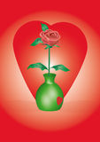 Rose y corazón Foto de archivo