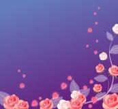 Rose y corazón ilustración del vector