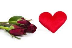 Rose y corazón Imagenes de archivo