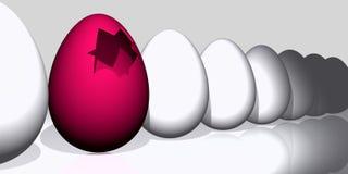 Rose y huevos de Pascua blancos Foto de archivo libre de regalías