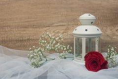Rose y linterna Fotografía de archivo libre de regalías