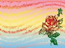 Rose y música libre illustration