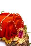 Rose y oro Foto de archivo libre de regalías