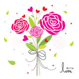 Rose For Only You Sweetheart Cute Cartoon Vector. Rose For Only You Sweetheart Flower Cute Cartoon Vector Royalty Free Stock Photo