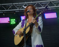Roseanne Cash on Stage Royalty Free Stock Photos