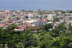Roseau Dominica. Taken from the hill above the capital city of Roseau, Dominica in the Caribbean royalty free stock photo