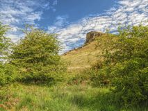 Roseberry Topping near Guisborough United Kingdom. Green, blue, sky royalty free stock photo