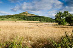 Roseberry Topping from the north. Roseberry Topping is an iconic landmark on the border of North Yorkshire an Teesside Royalty Free Stock Photography
