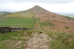 Roseberry Topping. Rocky path up to Roseberry Topping, North Yorkshire Royalty Free Stock Images
