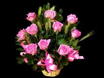 Roseblumenstrauß stockbild