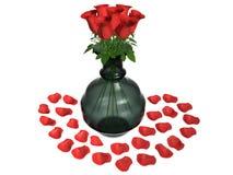 Roseblumenvase Stockfoto