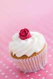 Rosebud cupcake Stock Image