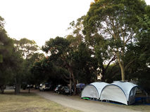 Rosebud Foreshore Camping Stock Images