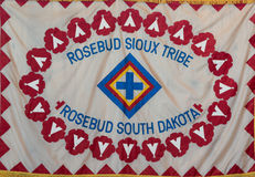 Rosebud Sioux Tribe flag Royalty Free Stock Images