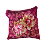 Rosebuds pillow Stock Photos