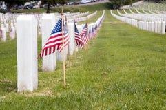 rosecrants nationaux militaires de fort de cimetière de cem nous Image stock