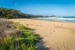 Rosedale beach in Batemans bay in New South Wales, Australia royalty free stock photo