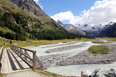 Roseg glacier Stock Image