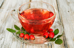 Rosehip drink with fresh berries Royalty Free Stock Photography