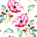 Rosehip Flower, seamless pattern Stock Photos