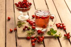 Rosehip. A real explosion of color and odor Stock Photo