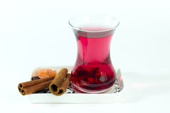 Rosehip tea with cinnamon Royalty Free Stock Photography