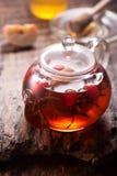 Rosehip tea, honey and apples. horizontal Royalty Free Stock Photography