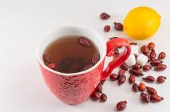 Rosehip tea with lemon Royalty Free Stock Photography