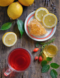 Rosehip tea with lemon. And honey Royalty Free Stock Image