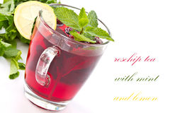 Rosehip tea and mint Stock Photography