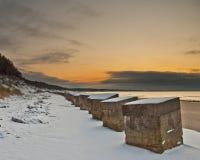Roseisle Strand im Winter Stockbilder