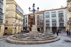 Rosel Square and San Blas. Soria Spain. Soria, Spain - March 25, 2016:  Rosel Square and San Blas. Soria Spain. Its name comes from one of the Twelve crews in Royalty Free Stock Images