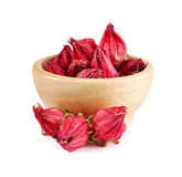 Roselle isolated on white background.  Royalty Free Stock Images