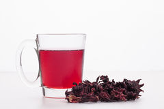 Roselle and juice Stock Image
