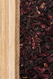 Roselle, mat and rope for the menu Stock Image