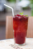 Roselle mocktail drink Stock Photo