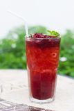Roselle mocktail drink Royalty Free Stock Photography