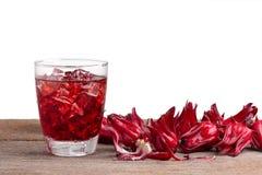 Roselle mocktail napój z roselle owoc lub poślubnika sabdariff zdjęcia stock