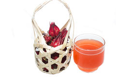 Roselle and Rozelle juice Stock Photos