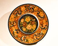Rosemaling Norwegian Decorative Buffet Plate Royalty Free Stock Image