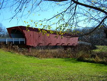 Roseman abgedeckte Brücke, Madison Co. IA Lizenzfreies Stockbild