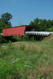 Roseman Bridge in Madison County. Picturesque Covered Bridge in Madison County Iowa Stock Images