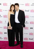 Rosemarie DeWitt and Ron Livingston. At the 2013 Film Independent Spirit Awards held at the Santa Monica Beach in Los Angeles, United States, 230213 stock image